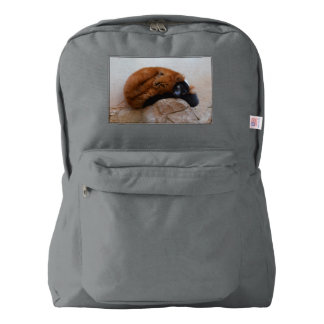 Cute Red Ruffed Lemur Backpack