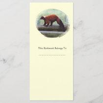 Cute Red-Ruffed Lemur Red Fur White Neck Bookmark