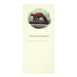 Cute Red-Ruffed Lemur Red Fur White Neck Bookmark Custom Rack Card