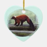 Cute Red-ruffed Lemur Red Fur White Neck Ceramic Ornament at Zazzle