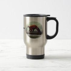 Cute Red-ruffed Lemur Red Fur White Neck Travel Travel Mug at Zazzle