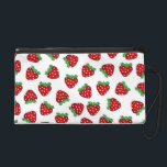 "Cute Red Strawberries Pattern White Background Wristlet Purse<br><div class=""desc"">Super cute and girly strawberries pattern design on white background.</div>"