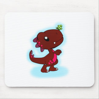 Cute Red T-Rex Mouse Pad