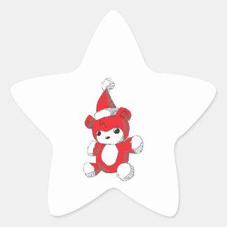 Cute Red Teddy Bear Santa Hat Mugs Buttons Pins Star Sticker