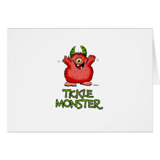 Cute red tickle Monster by send2smiles Card