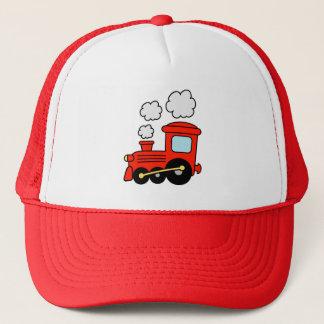 Cute red toy choo choo train trucker hat for kids