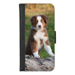 iPhone 8/7 Wallet Case with Australian Shepherd Phone Cases design
