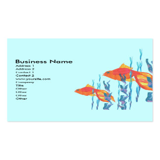 Cute Red Tropicl Fish Double-Sided Standard Business Cards (Pack Of 100)