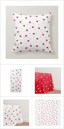 Cute Red Valentines Hearts Pattern