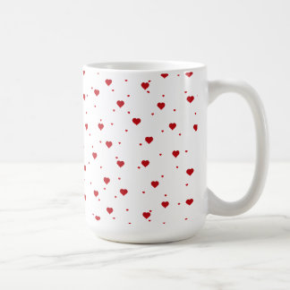 Cute Red Valentines Hearts Pattern Coffee Mug