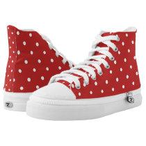 Cute Red White Polka Dots fun shoes