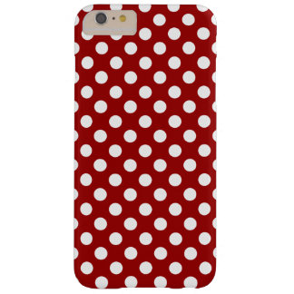 Cute Red White polka dots iPhone 6 Plus Barely There iPhone 6 Plus Case