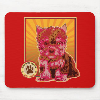 Cute Red Yorkie Puppy Dog - Yorkshire Terrier Mouse Pad
