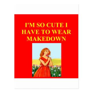cute redhead joke postcard