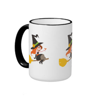 Cute Redhead Witch Mugs