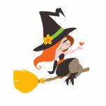 Cute Redhead Witch Photo Cutouts