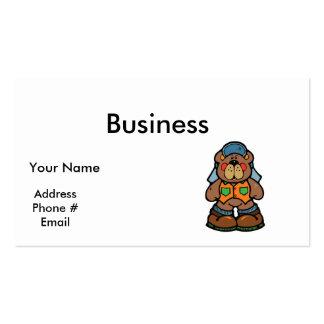 cute redneck camper bear business cards