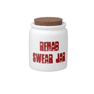 Cute Rehab Swear Jar Spare Change Bank Candy Jar