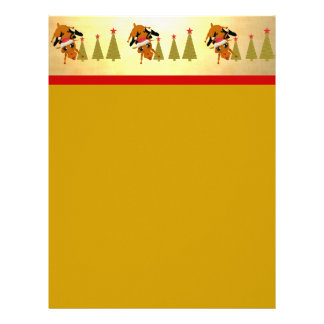 Cute Reindeer and Christmas Trees Letterhead
