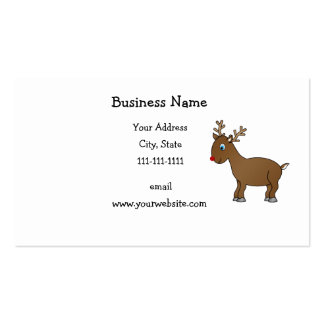 Cute reindeer business card templates