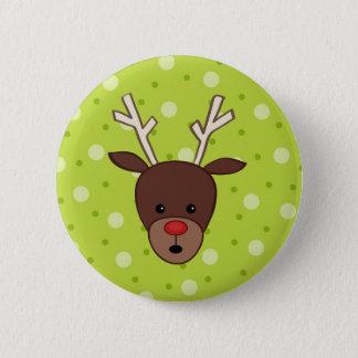Cute Reindeer Button