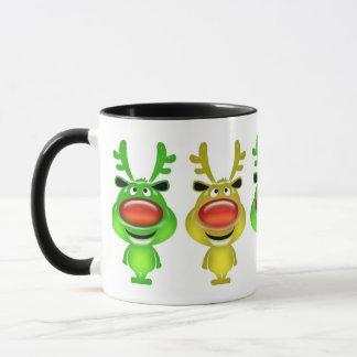Cute reindeer christmas coffee mug