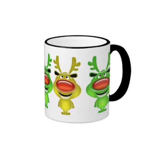 Cute reindeer christmas coffee ringer coffee mug