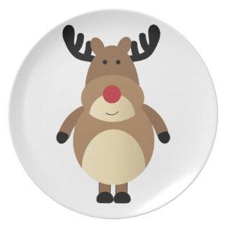 Cute Reindeer Holiday Cookies Plate