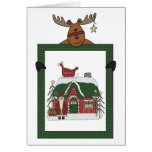 Cute Reindeer Holiday Decorating Contest Card