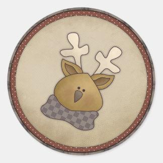 Cute Reindeer Holiday Winter Stickers
