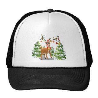 Cute Reindeer in the Snow Trucker Hat