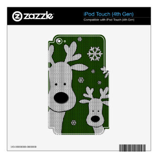 Cute Reindeer iPod Touch 4G Decal