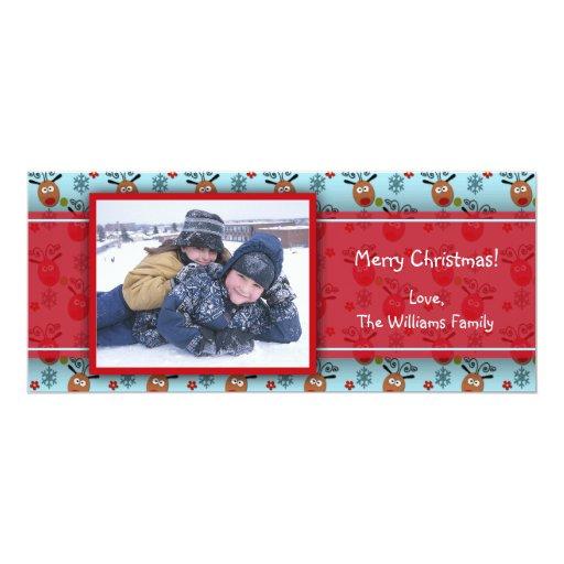 Cute Reindeer Photo Card