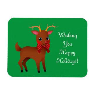 Cute Reindeer Rectangular Photo Magnet