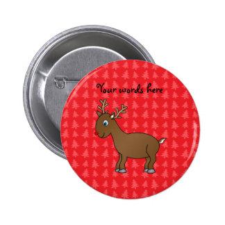 Cute reindeer red christmas tree background pins