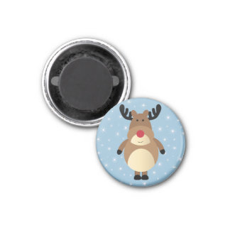 Cute Reindeer Winter Holiday Magnet