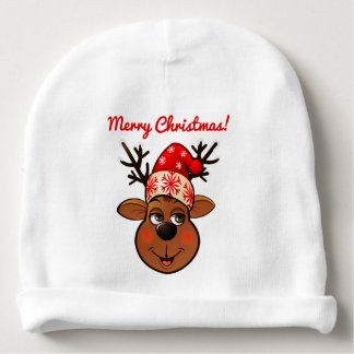 Cute Reindeer With Christmas Hat