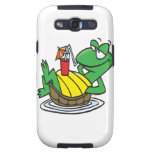 cute relaxing floating turtle cartoon samsung galaxy s3 cover