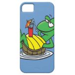 cute relaxing floating turtle cartoon iPhone 5 case