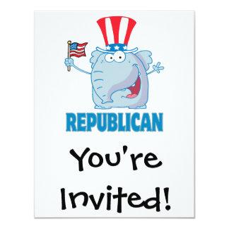 cute republican elephant political cartoon card