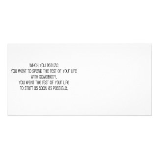 """Cute, """"Rest of your life"""" Marriage quote Custom Photo Card"""