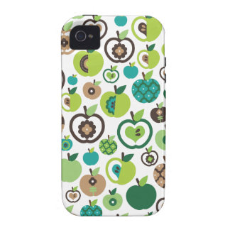 Cute retro apple flower pattern design case for the iPhone 4