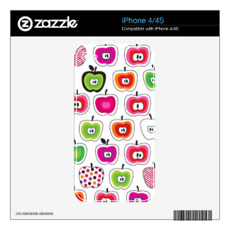 Cute retro apple pattern decal for the iPhone 4S