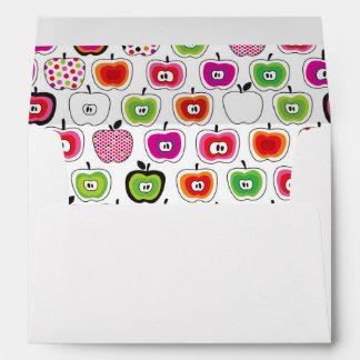 Cute retro apple pattern envelope