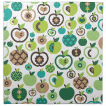 Cute retro apple pattern printed napkin
