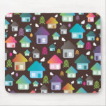 Cute retro brand new home pattern mousepad