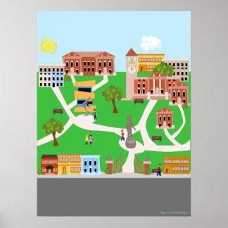 Cute Retro Campus Poster