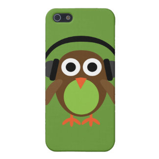 Cute Retro Cartoon Owl DJ With Heads Case For iPhone SE/5/5s