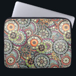 "Cute Retro Chic Funky Floral Circles Art Pattern Computer Sleeve<br><div class=""desc"">Beautiful contemporary teal blue, coral red orange, aqua turquoise, lime green, pastel and hot pink colored watercolor flowery circles pattern. Ornate, funky, modern and whimsical hipster design for the fancy and elegant artistic fashionista or artsy fashion diva, the popular hip trendsetter, vintage mod retro, modernist, nouveau deco art style or...</div>"