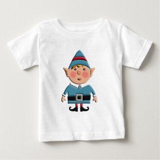 Cute Retro Christmas Elf Baby T-Shirt